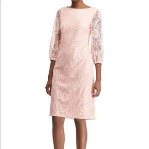 NWT Chaps Pink Lace Dress
